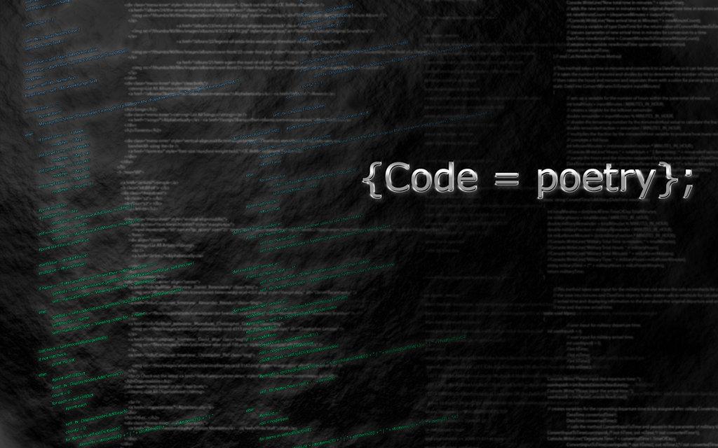 C0de is Poetry.