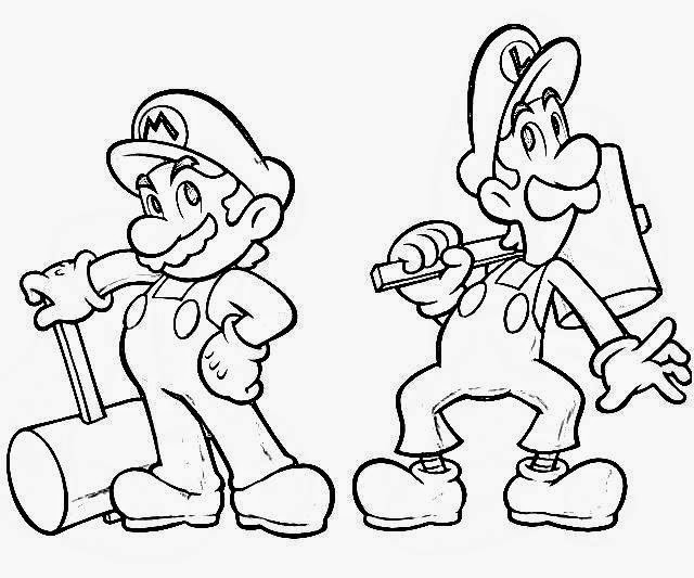 mario and luigi coloring pages - coloring pages mario coloring pages free and printable