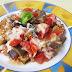Refogado de berinjela e tomate com queijo - 10 minutos