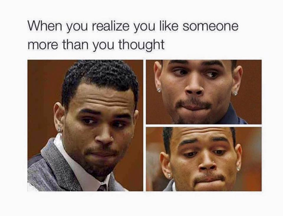 when you like someone