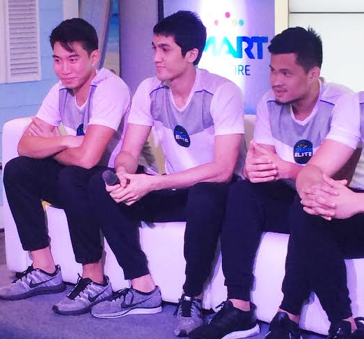 UAAP Season 78 Men's Basketball Smart Elite Squad, Gelo Alolino, Jett Manuel, Vonn Pessumal