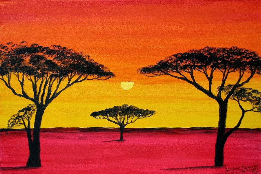 African artists paintings
