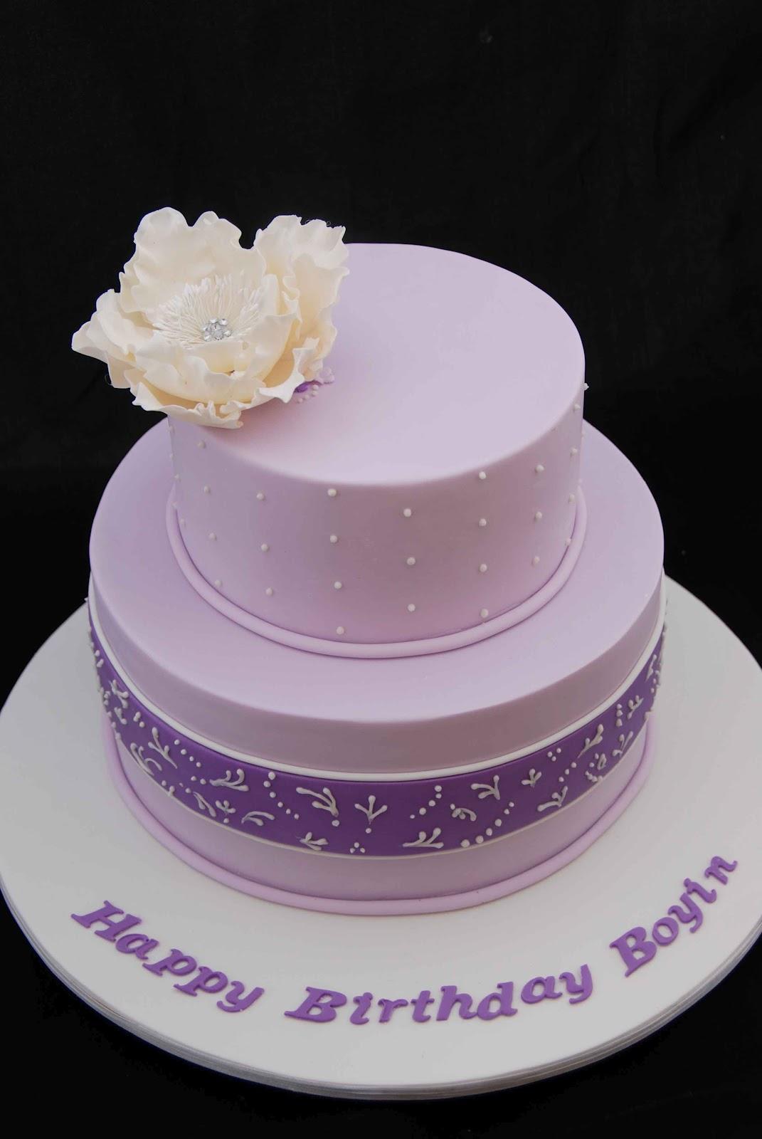 Little Robin Purple Birthday Cake