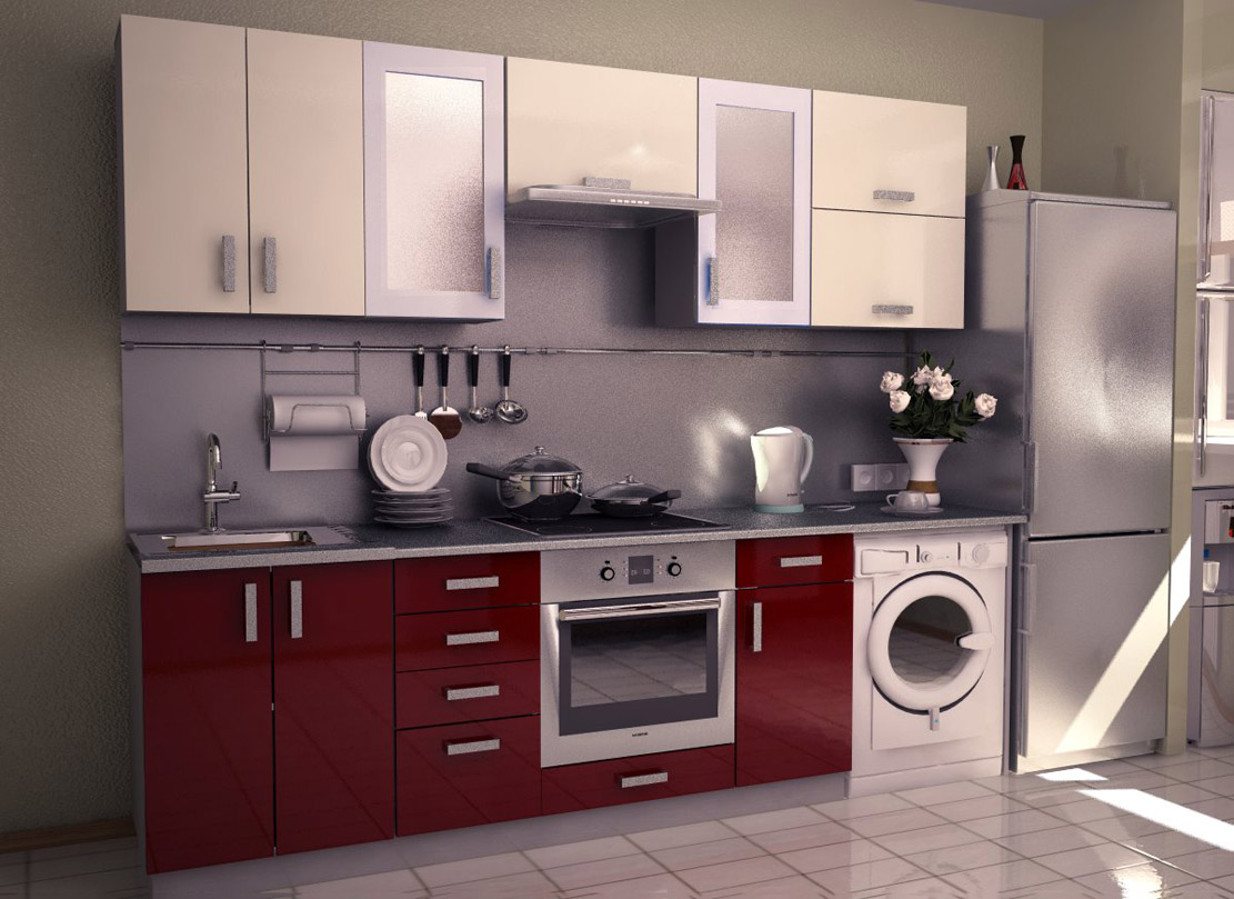 Aamoda kitchen for Kitchen cabinet washing machine