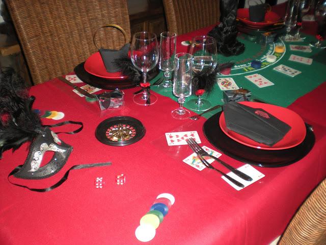 nouvel an sur le th me jeux de casino d co de table th mes. Black Bedroom Furniture Sets. Home Design Ideas