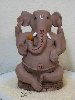 ganesha clay idol