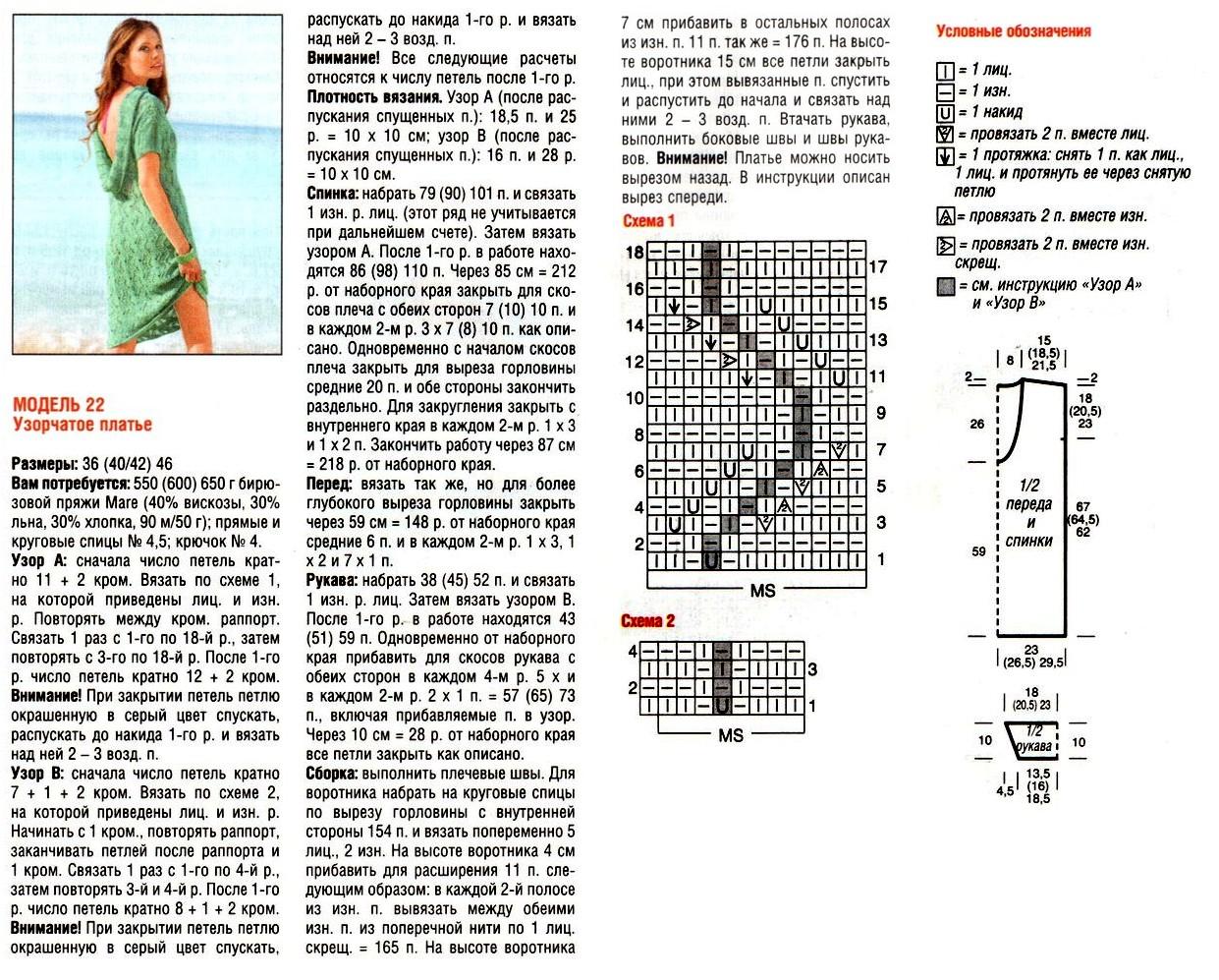 Модели для вязания со спущенными петлями