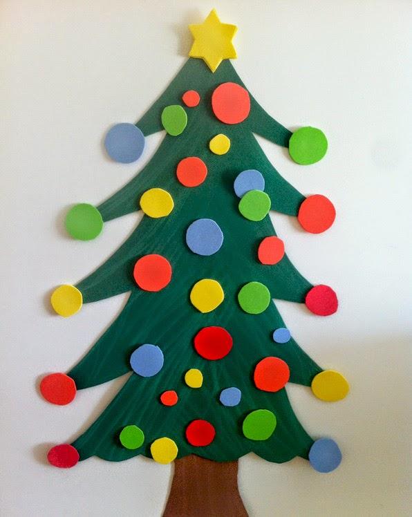 Manualidades rbol de navidad con goma eva - Manualidades de arboles de navidad ...