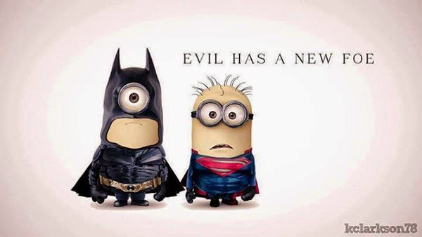 Minion Batman e Minion Superman