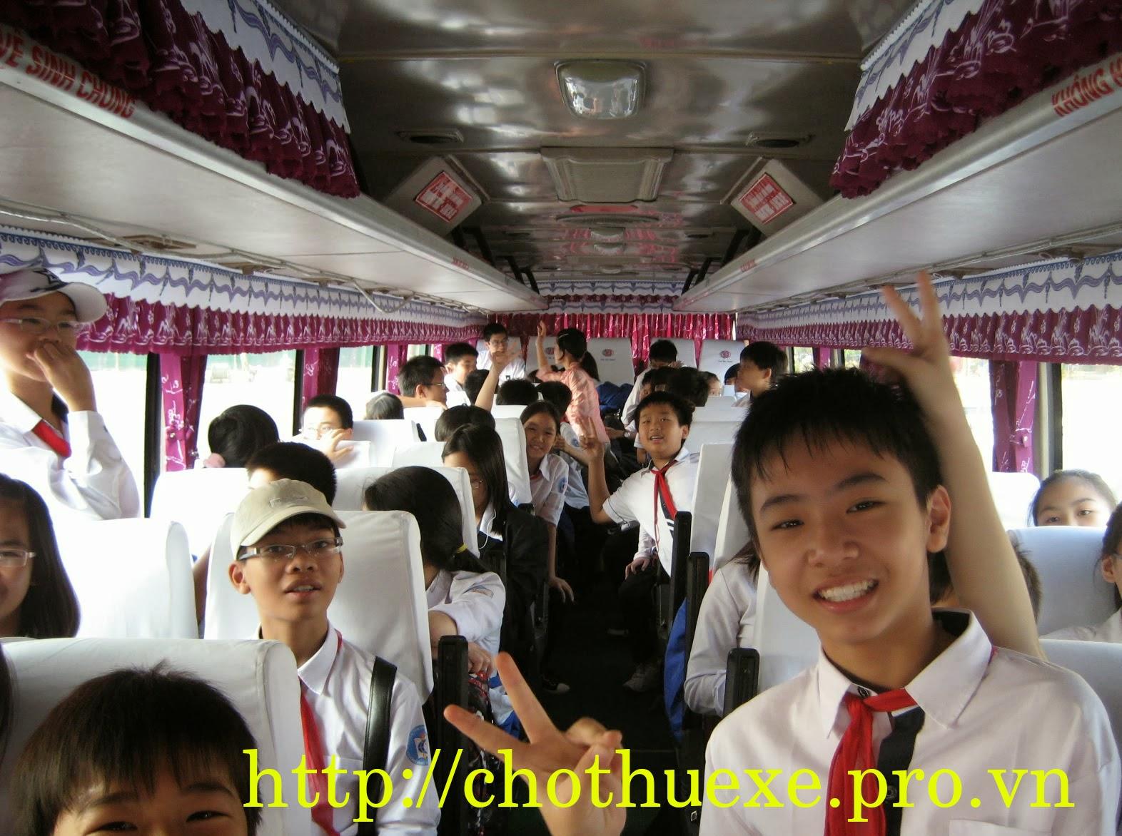 Cho thuê xe đưa đón học sinh xe từ 4 đến 45 chỗ