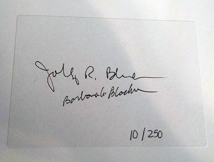 Stickered signature insert