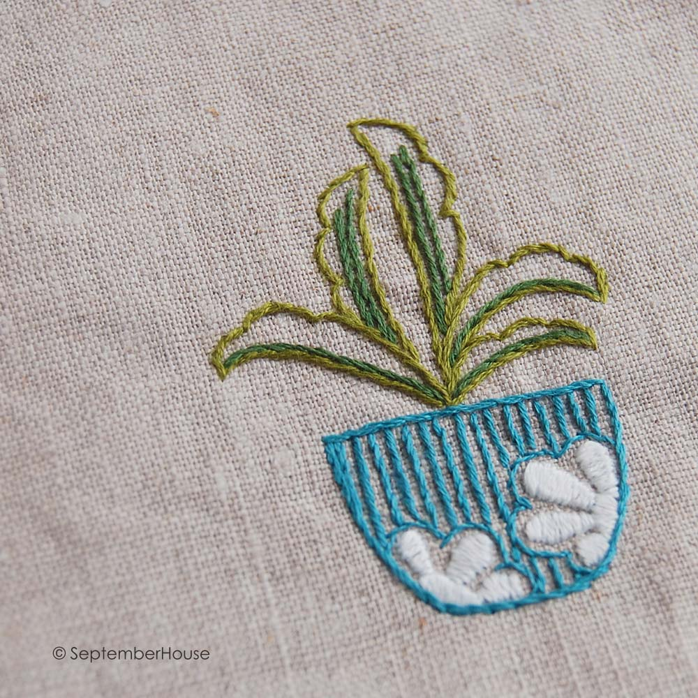Hand Embroidery Designs Houseplant Mis and Match from SeptemberHouse