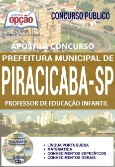 Apostila PDF: Prefeitura de Piracicaba Professor de Educação Infantil