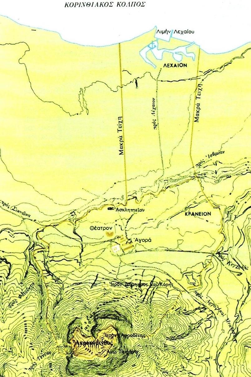 Η τοπογραφία του λιμένος του Λεχαίου σε σχέση με την Ακροκόρινθο