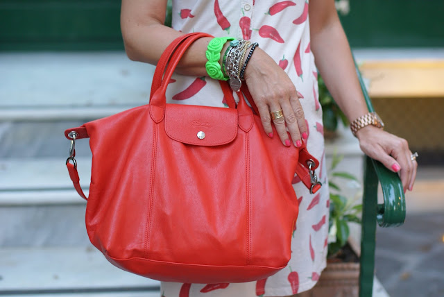 Longchamp Le Pliage Cuir bag, Fashion and Cookies, fashion blog