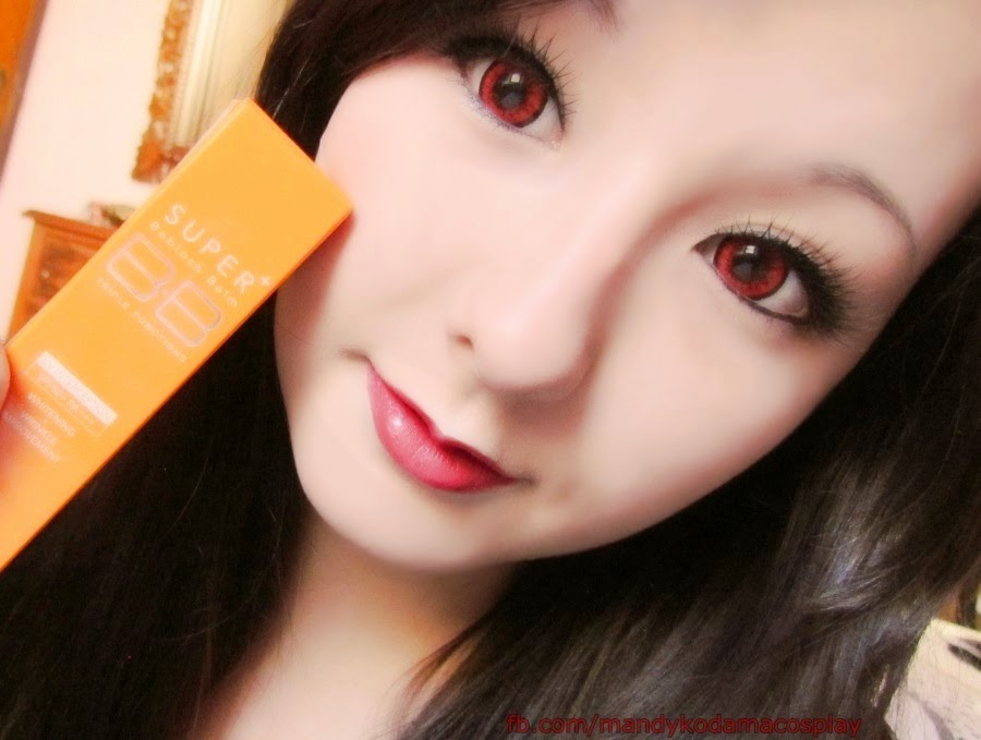 Crazy Virgin Makeup Look with Skin79 Vital BB Cream, Stella False Eyelashes & I.Fairy Dolly+ Red Lenses