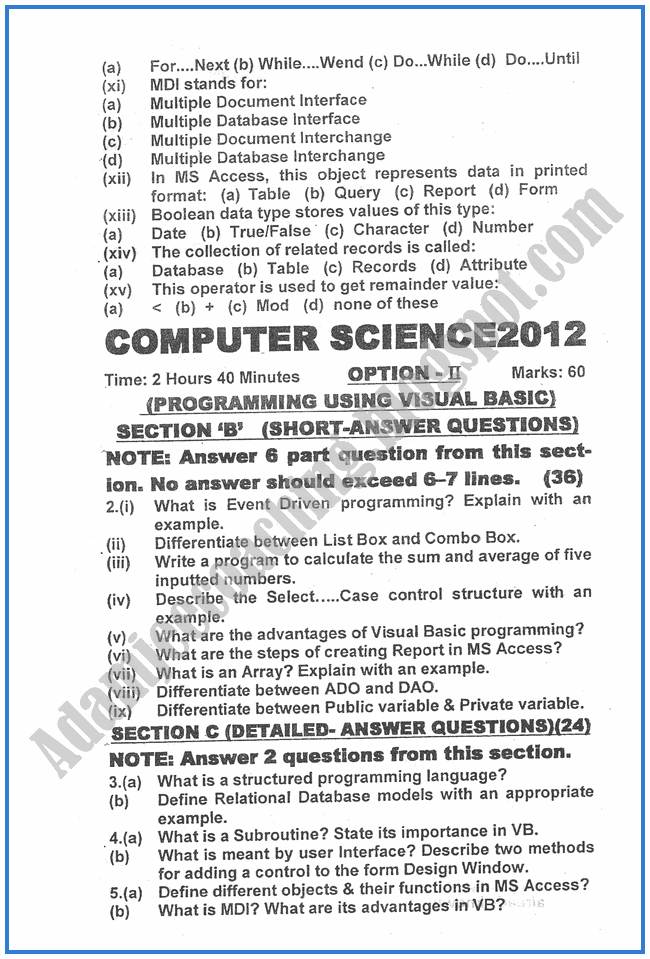 Computer-science-2012-past-year-paper-class-XII