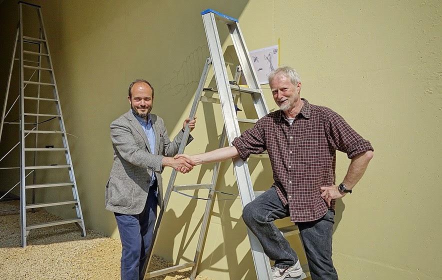 Nils Norman en Eddie Van Hoef
