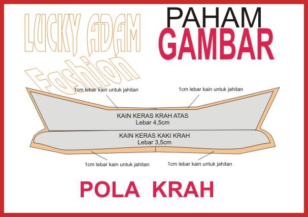 TUTORIAL CARA MEMBUAT POLA KERAH KEMEJA,By Lucky Adam ...