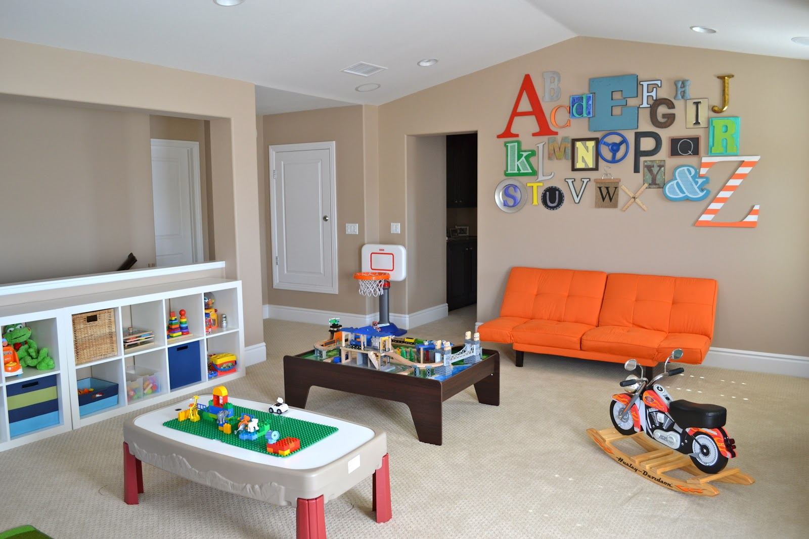 Playroom tour with lots of diy ideas color made happy for Kids living room ideas