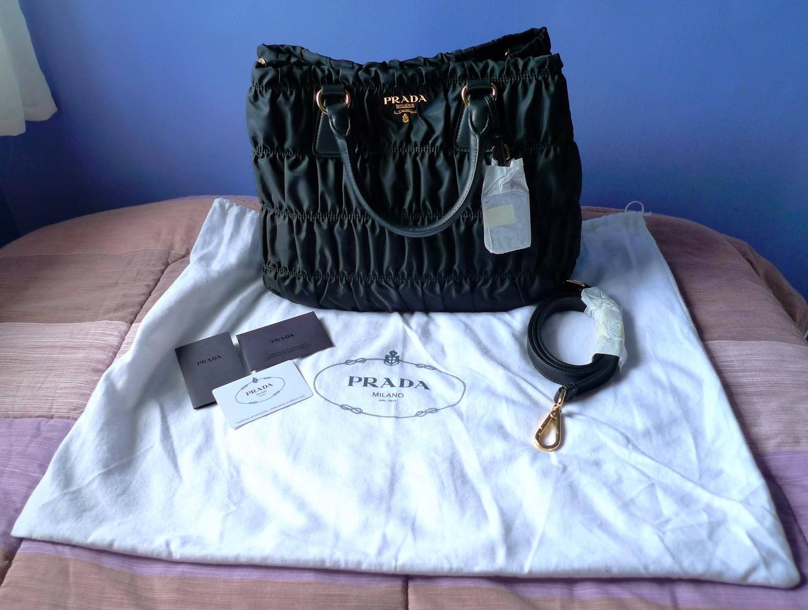 prada new arrival handbags - Bag Review: Prada Tessuto Gaufre' BN1789M+Authenticate Your Prada ...
