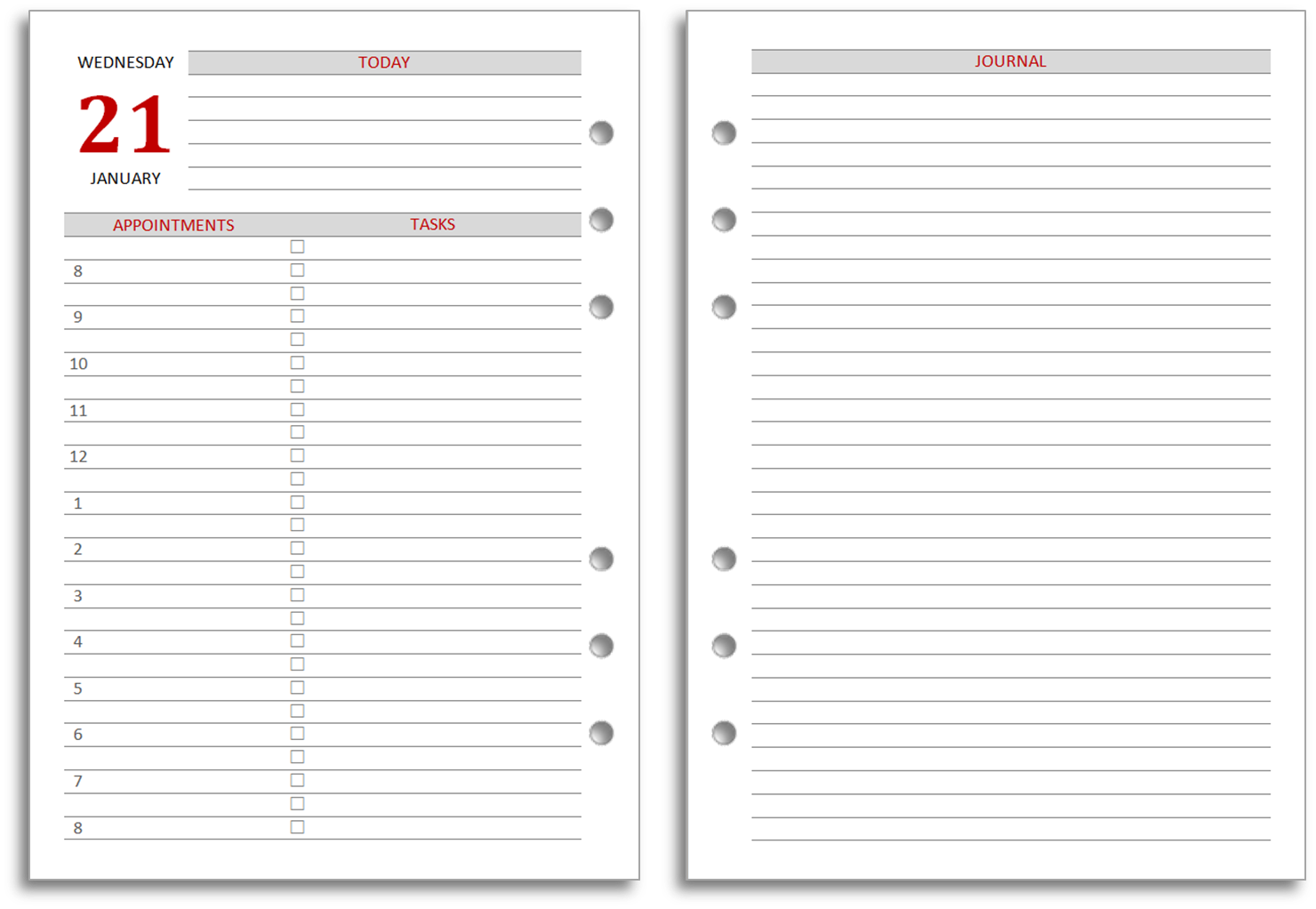 Diary Word Template  Journal Template For Word