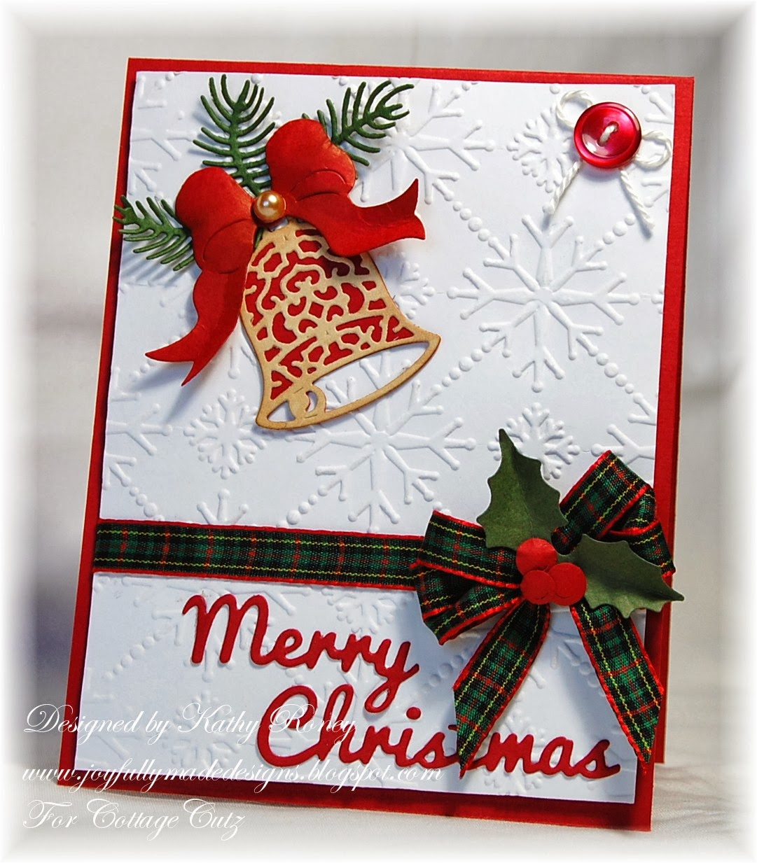 Cottageblog elegant christmas bell for Elegant homemade christmas cards