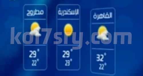 «الأرصاد الجوية» درجات الحرارة فى مصر غدا الاثنين 5-10-2015 ، حالة الطقس غدا الاثنين 5 اكتوبر 2015