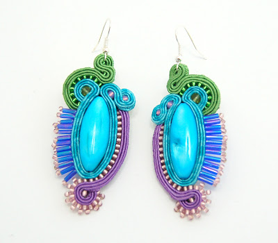 kolczyki sutasz soutache earrings 50
