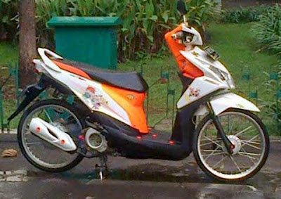 modifikasi motor Beat fi