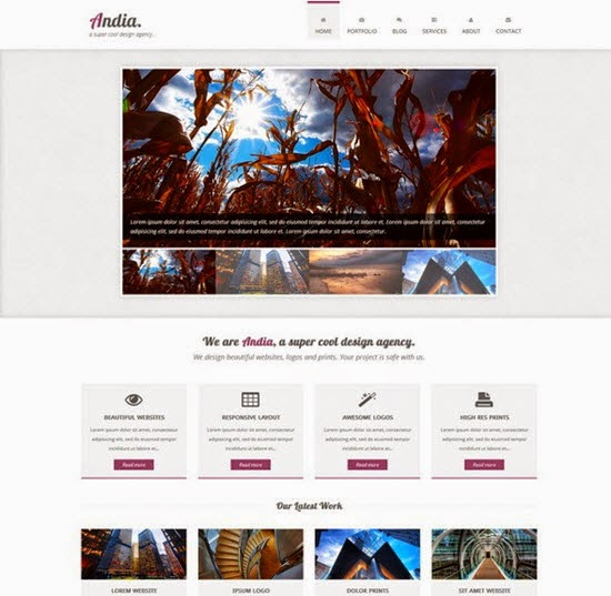 Free HTML Template Andia