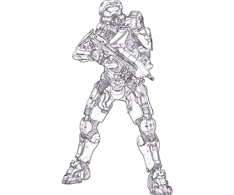 Halo 4 Coloring Pages Printable
