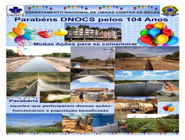 Celebrando os 104 anos do DNOCS - Servidores de PE produzem banner como parte das comemorações do aniversário do DNOCS