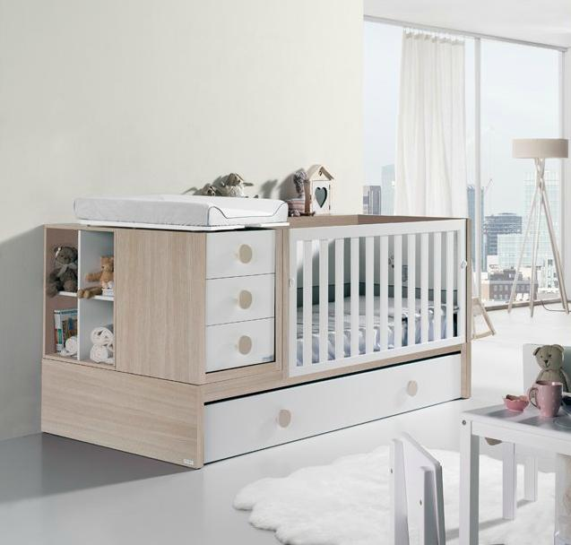 Set Budget Babies Nursery Furniture Pink Blue Flags Hanging Brown Doll Inside Crib And Sit On