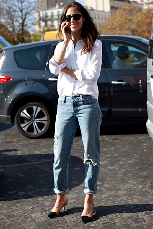 To acquire Remix: Style white button-down shirt, black trousers picture trends