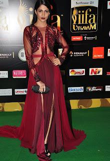 Actress Lavanya Tripathi Stills in Red Dress at IIFA Utsavam Awards 2016 Day 2   (25).jpg