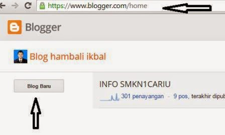 Membuat Blog Gratis di Blogspot