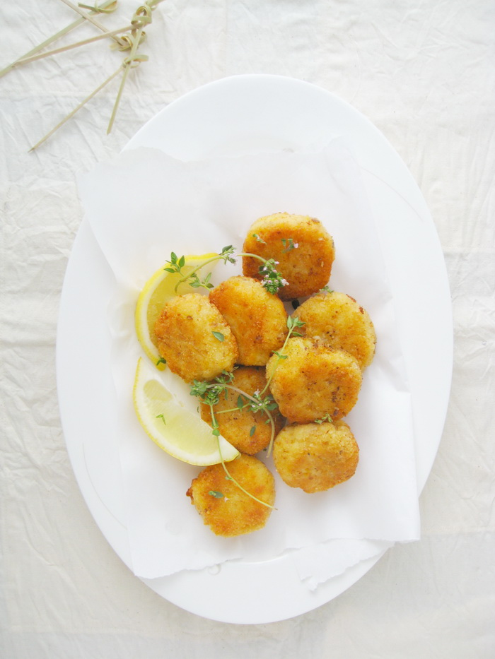 Pumpkin Rice Croquettes, Vegetarian, Delicious, easy to make, Copyright by aldentegourmet blog