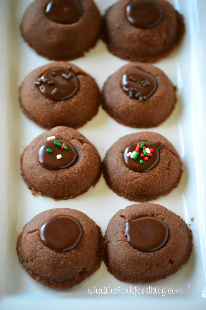 Double Chocolate Thumbprint Cookies from What the Fork +Sharon L