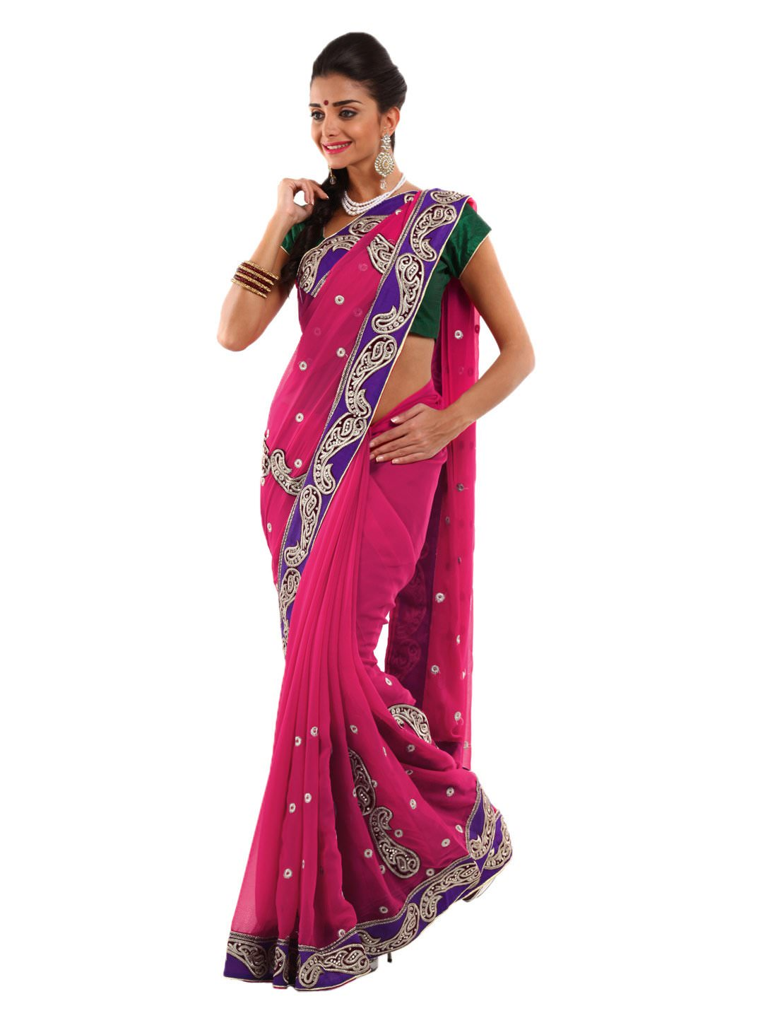 Ladies New Brands Indian Embroidery Sarees Styles