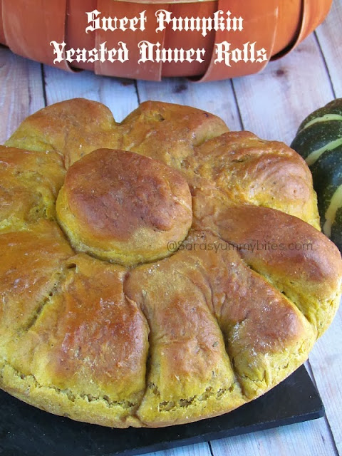 Savory Pumpkin Yeasted bread and Sweet pumkin yeasted Dinner Rolls with Chocolate stuffing
