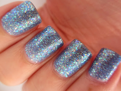 Sinful-colors-Hottie-swatch-blue-glitter-jelly-irrediscent