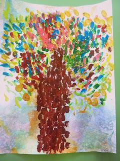 Portrait d'arbres comme Monet en GS