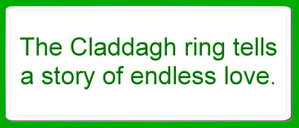 claddagh ring tells a story of endless love