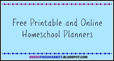 Homeschool Planners ~ hsedufreemarket.blogspot.com