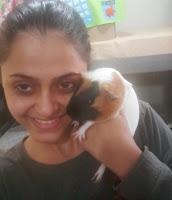 E essa é a Quiqui! Minha segunda filhotinha, Porquinha da Índia!