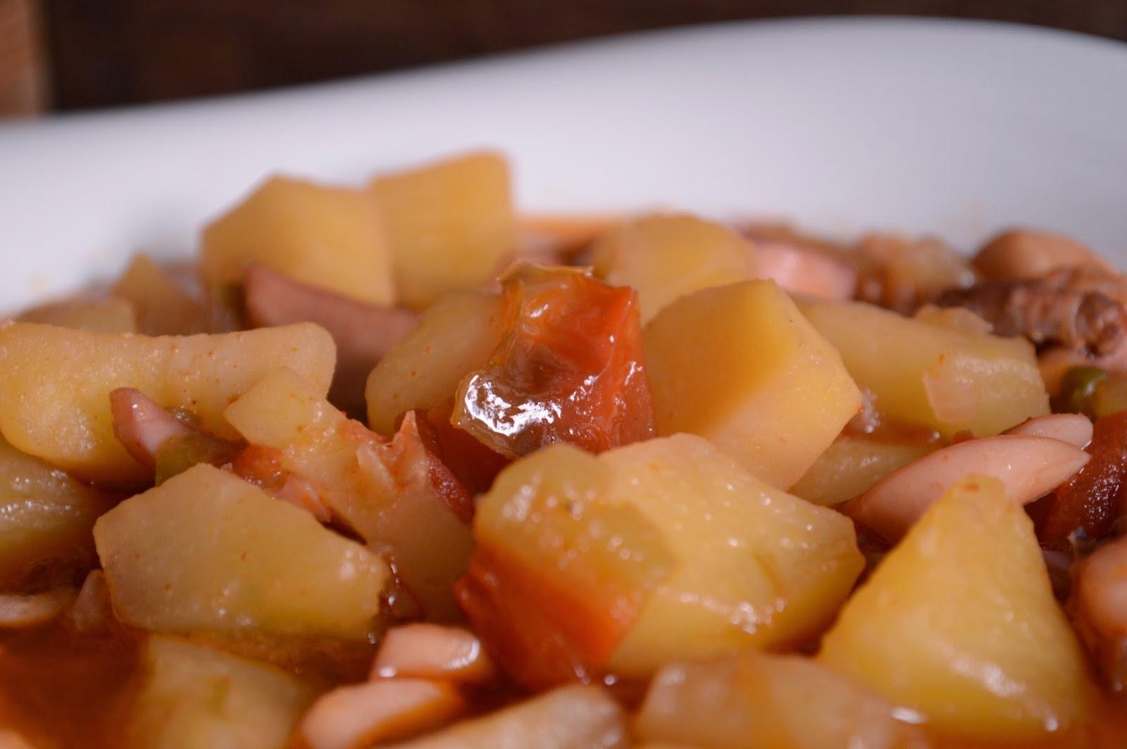 Potarro guisado con patatas