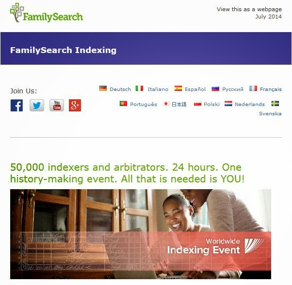 http://view.familysearch.ldschurch.org/?j=fe561077706704747313&m=fe6315707166057a711d&ls=fde9137777630d7a73147470&l=fe5f16797d61067d7314&s=fe3013767760017c751773&jb=ff9c1572&ju=fe1f177173650274731c78&et_cid=47530967&et_rid=762451033&linkid=http%3a%2f%2fview.familysearch.ldschurch.org%2f%3fj%3dfe561077706704747313%26m%3d%%ex2%3bMemberID%%%26ls%3d%%ex2%3blistsubid%%%26l%3d%%ex2%3blistid%%%26s%3d%%ex2%3bSubscriberID%%%26jb%3d%%ex2%3b_JobSubscriberBatchID%%%26ju%3d%%ex2%3bjoburlid%%&cid=WorldwideIndexingEvent&r=0