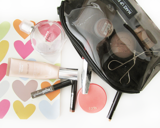 Makeup for when you are travelling