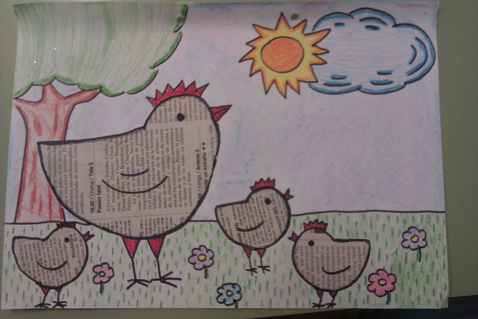 Manualidades escolares dibujos con peri dico - Manualidades con periodicos para ninos ...